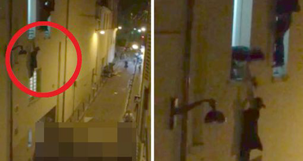 WATCH: Pregnant Woman Hanging from Window Paris