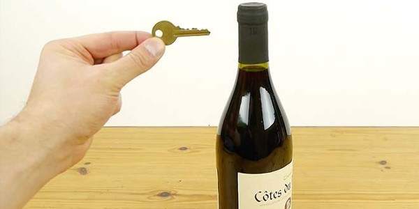 watch how to open a wine bottle with only a key first to know. Black Bedroom Furniture Sets. Home Design Ideas